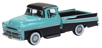 1:87 1957 Dodge D100 Sweptside Pickup (Turquoise/Jewel Black)