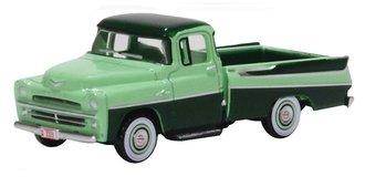 1957 Dodge D100 Sweptside Pickup (Forest Green/Misty Green)