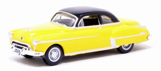 1:87 1950 Oldsmobile Rocket 88 Coupe (Yellow/Black)