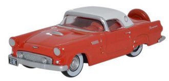 1:87 1956 Ford Thunderbird (Fiesta Red/Colonial White)