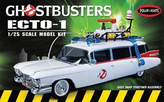 1:25 Ghostbusters™ Ecto-1 1959 Cadillac Ambulance (Snap Model Kit)