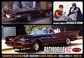 1:25 1966 Batmobile w/Batman & Robin Figures (Model Kit)