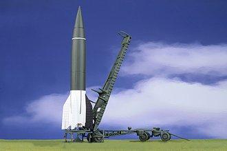 V-2 Rocket (Plastic) w/Meillerwagen (Diecast) & Brennstand - Field Trials, 1943-44