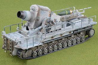 "Karl-Gerat 040 Self-Propelled Siege Mortar with Shells - ""Thor,"" s.Art.Abt.833, Winter 1942"