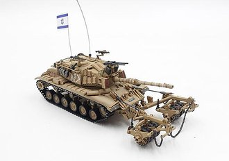Magach 6 (M60A1) with KMT-4 Mine Roller - Israel Defense Forces