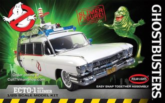 1:25 Ghostbusters™ Ecto-1 1959 Cadillac Ambulance w/Slimer Figure (Snap Model Kit)