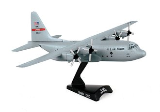 "1:200 C-130 Hercules ""USAF 317th AG, Dyess AFB, TX"" (Gray) (8"")"