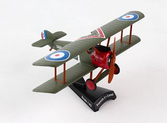 1:63 Sopwith Camel F-1 Bi-Wing (Green/Red)