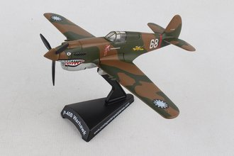 "1:90 P-40 Curtiss ""AVG Flying Tigers, 'White 68', China, Hell's Angels"""