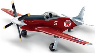 1:44 Texaco 1945 North American P-51D Mustang (Red)