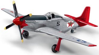1:44 Texaco 1945 North American P-51D Mustang (Red/Brushed Metal)