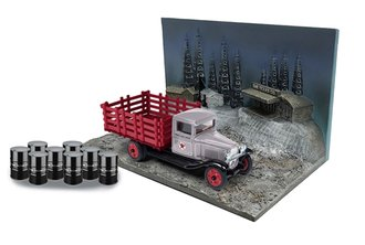 1:43 Texaco 1930 Chevrolet Stakebed w/Barrels (Gray/Red) (USA Series #12)