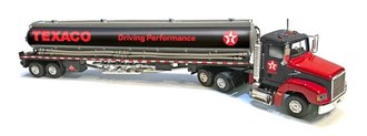 1:43 Texaco Semi Gasoline Tanker (Black/Red)