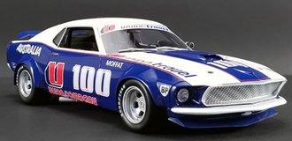 """1:18 1969 Ford Boss 302 Trans Am Mustang #U100 """"Allan Moffat"""""""