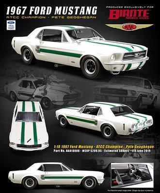 """1:18 1967 Ford Mustang """"ATCC Champion - Pete Geoghegan"""""""
