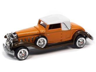 1:64 1931 Cadillac Cabriolet (Burnt Orange/Brown Metallic)