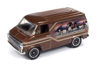 1:64 1975 Chevrolet Van (Cocoa w/Horse Graphics)