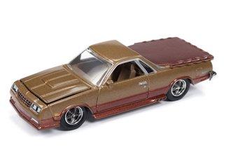 1:64 1986 Chevrolet El Camino (Gold/Brown)