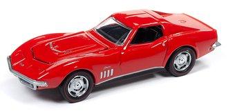 1:64 1969 Chevrolet Corvette (Monza Red)