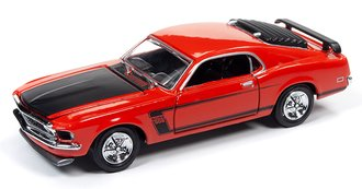 1:64 1969 Ford Mustang BOSS 302 (Calypso Coral)