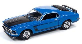 1:64 1969 Ford Mustang BOSS 302 (Grabber Blue)