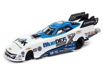 1:64 2021 John Force Blue Def Camaro FC (White & Blue w/Race Graphics)