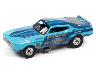 1:64 1973 Ford Mustang Blue Max FC (Blue w/Race Graphics)