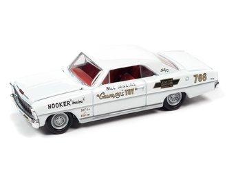 "1:64 1966 Bill Grumpy Jenkins ""Grumpy's Toy"" Chevrolet Nova (White w/Race Graphics)"