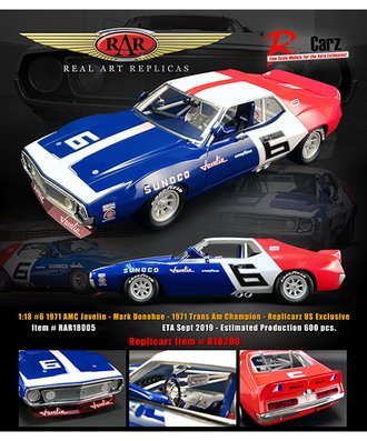 "1971 AMC Javelin, Trans Am ""Sunoco - Mark Donohue"""
