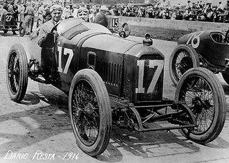 1:43 Peugeot, Winner 1916 Indianapolis 500, Dario Resta