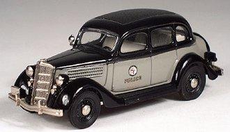 1935 Ford Police Car (Black/Gray)