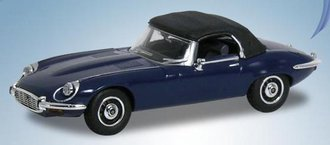 1974 Jaguar E-Type V12 w/Top Up (Dark Blue)