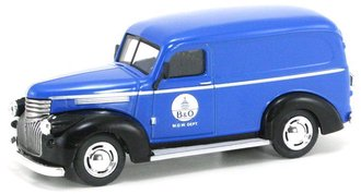 "1:43 1946 Chevy Panel Van ""B&O Railroad M.O.W. Dept."" (Blue/Black)"