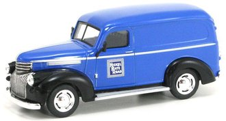 "1:43 1946 Chevy Panel Van ""Nickel Plate Road"" (Blue/Black)"