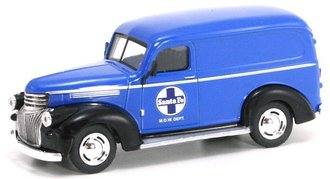 "1:43 1946 Chevy Panel Van ""Santa Fe Railway M.O.W. Dept."" (Blue/Black)"