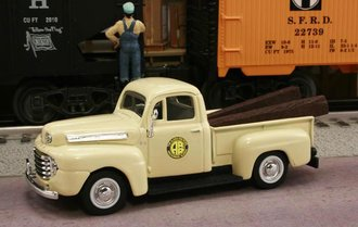 "1948 Ford F1 Pickup ""Alaska Railroad M.O.W. Dept."" (Cream)"