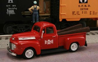 "1948 Ford F1 Pickup ""Bessemer & Lake Erie Railroad"" (Red)"