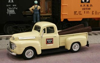 "1948 Ford F1 Pickup ""Chicago, Burlington & Quincy (Burlington Route) M.O.W. Dept."" (Cream)"