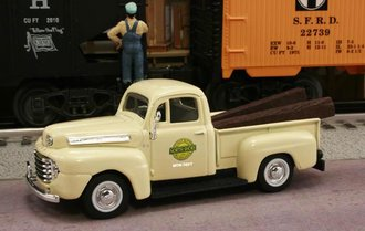 "1948 Ford F1 Pickup ""Chicago North Shore & Milwaukee Railroad M.O.W. Dept."" (Cream)"