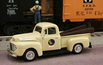 "1948 Ford F1 Pickup ""Chesapeake & Ohio Railway M.O.W. Dept."" (Cream)"