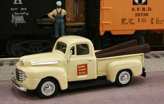 "1948 Ford F1 Pickup ""Central Vermont Railway"" (Cream)"