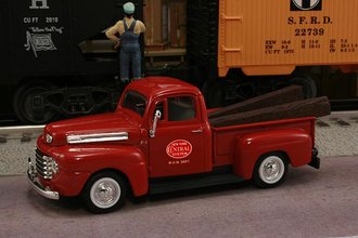 "1948 Ford F1 Pickup ""New York Central System M.O.W. Dept."" (Red w/Red Logo)"