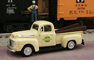 "1948 Ford F1 Pickup ""Rutland Railroad"" (Cream)"