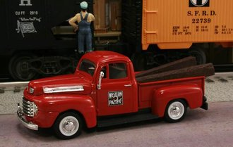 "1948 Ford F1 Pickup ""Western Pacific Railroad"" (Red)"