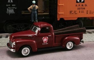 "1950 GMC Pickup ""Pennsylvania Railroad M.O.W. Dept."" (Burgundy)"