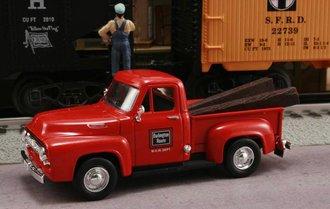 "1953 Ford F-100 Pickup ""Chicago, Burlington & Quincy (Burlington Route) M.O.W. Dept."" (Red)"
