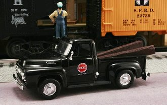 "1953 Ford F-100 Pickup ""Chicago & Eastern Illinois Railroad M.O.W. Dept."" (Black)"
