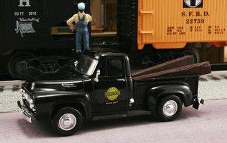 "1953 Ford F-100 Pickup ""Chicago North Shore & Milwaukee Railroad M.O.W. Dept."" (Black)"