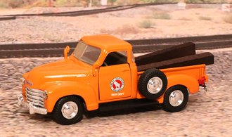 "1953 Chevy 3100 Pickup ""Great Northern Railroad M.O.W. Dept."" (Orange)"