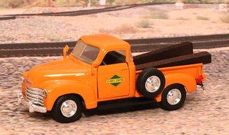 """1953 Chevy 3100 Pickup """"Illinois Central Railroad M.O.W. Dept."""" (Orange)"""